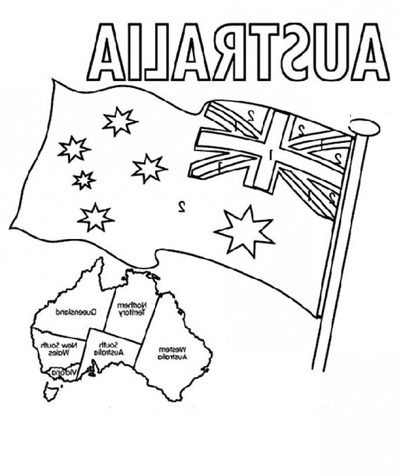30 Australian Flag Coloring Sheet - Free Printable Coloring Pages