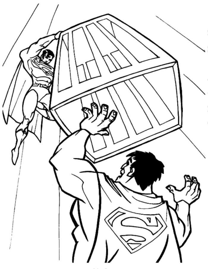 Super Strong Superman Coloring Page - Superheroes Coloring Pages