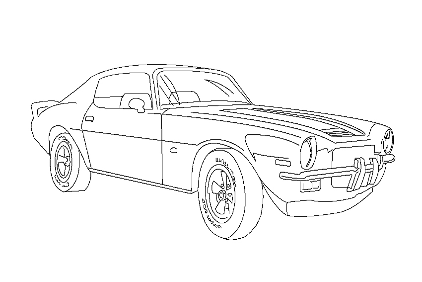 printable camaro coloring pages - photo#4