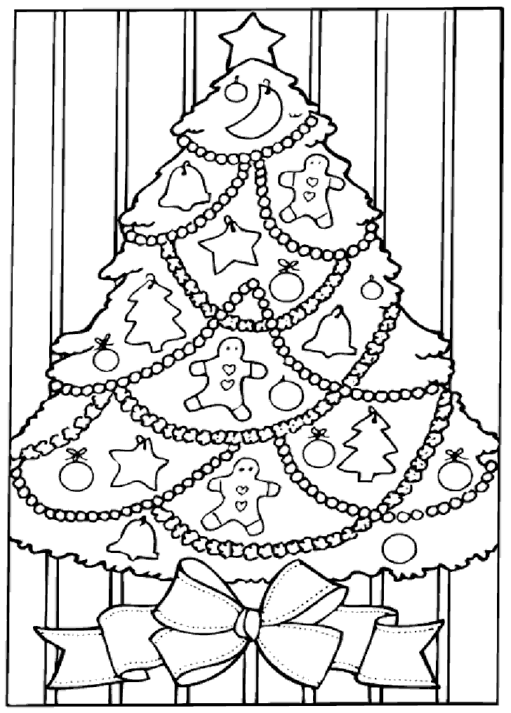 Christmas Tree Coloring Pages Photos Behairstyles | demenglog.com