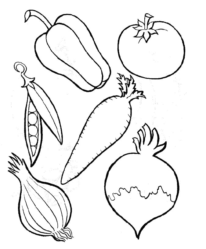 free coloring pages for vegetables - photo#9