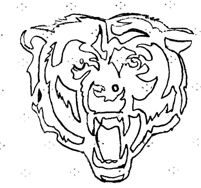 Chicago Bears Symbol Pictures Az Coloring Pages Chicago Bears Coloring Pages