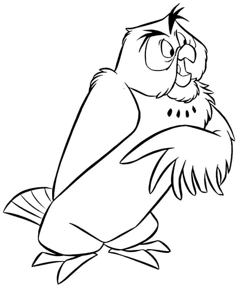 owl winnie the pooh coloring pages - winnie the pooh pictures free download az coloring pages