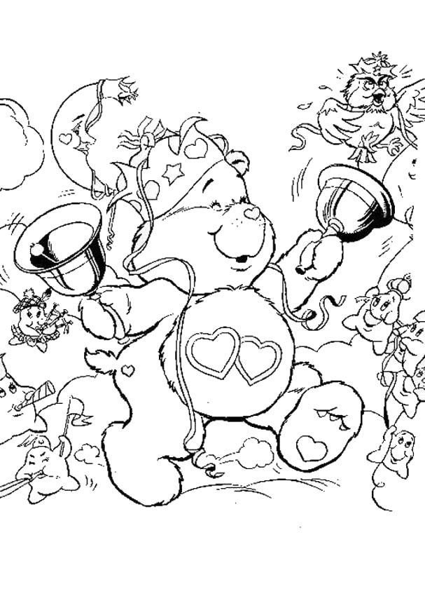 CARE BEARS coloring pages : 17 printables of your favorite TV