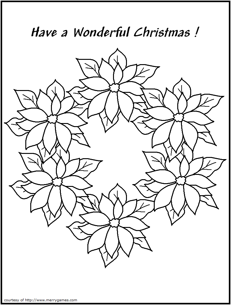 coloring pages christmas wreaths - photo #45
