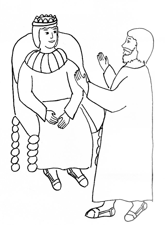 Bible Story Coloring Page for Paul and King Agrippa | Free Bible