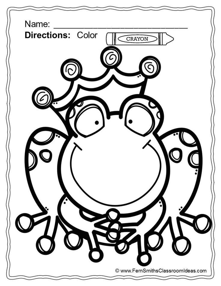 frog prince coloring pages coloring home. Black Bedroom Furniture Sets. Home Design Ideas