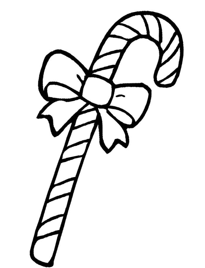 Candy Cane Coloring Pages For Kids - AZ Coloring Pages