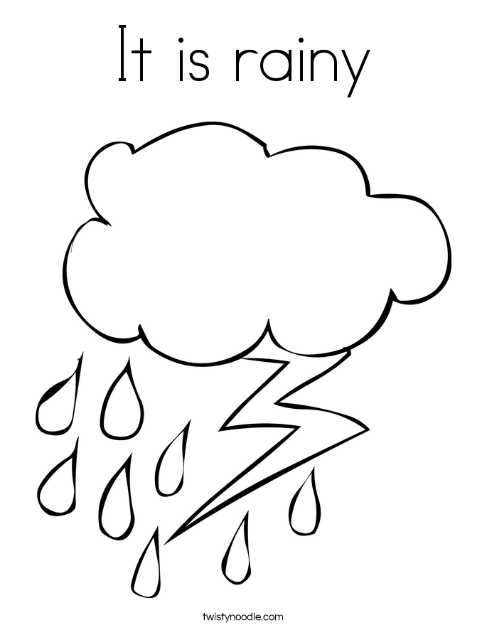 raindrop coloring pages clouds - photo#13