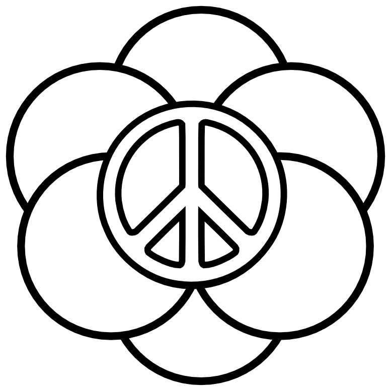 Peace sign coloring page coloring home for Coloring pages peace sign