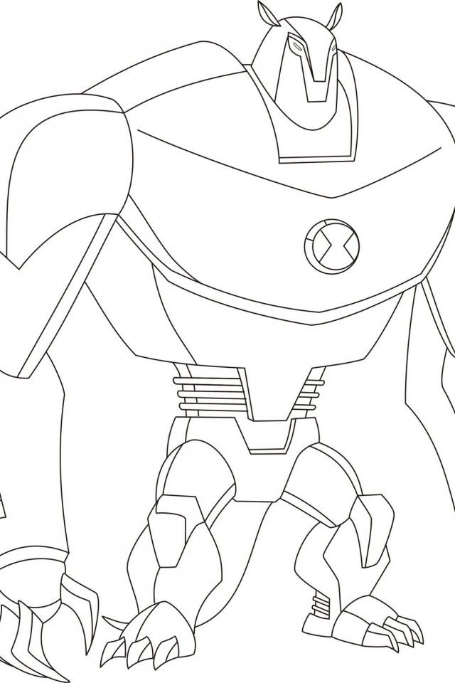 Ben Ten Ultimate Alien Coloring Pages Coloring Home