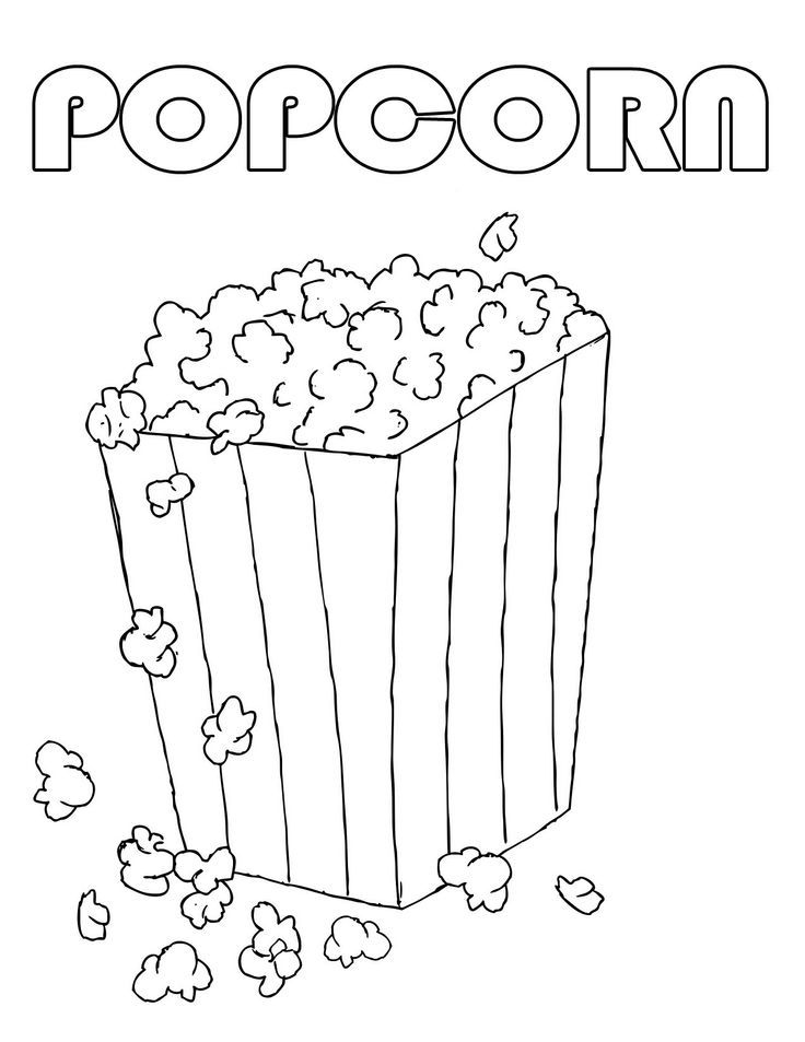 popcorn coloring pages - popcorn coloring sheet coloring home