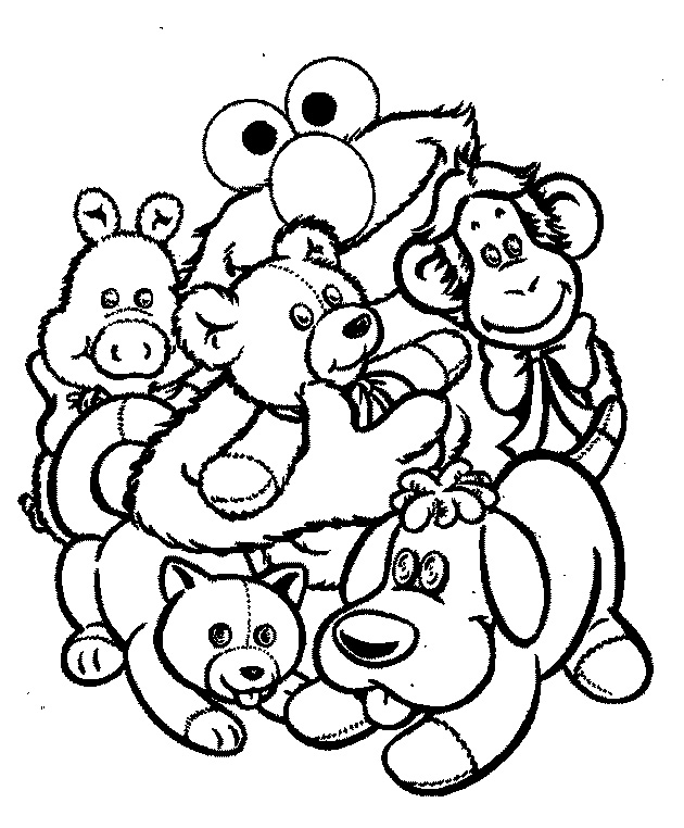 Gangster Elmo Coloring Pages Coloring Elmo Pages 181 | Free