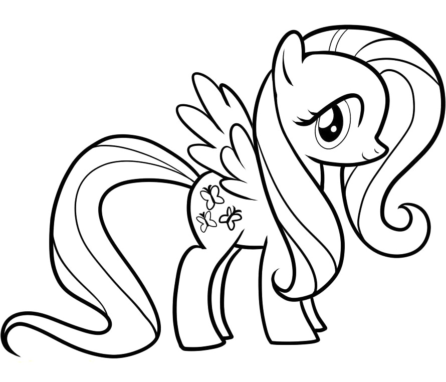 free princess fluttershy coloring pages