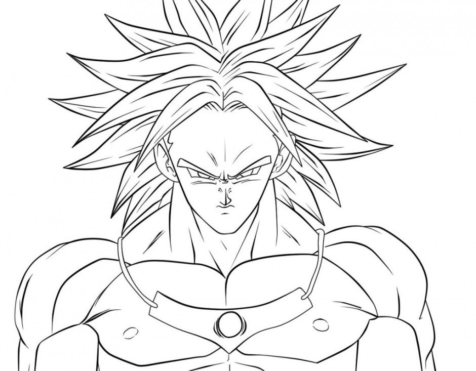 broly coloring pages - photo#12