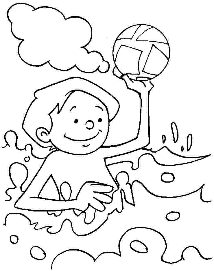 boy summer coloring pages - photo#39
