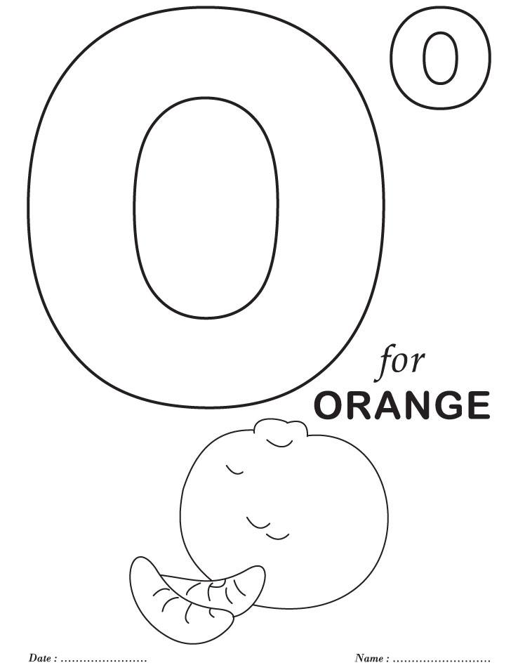 alphabet coloring pages for preschool - photo#25
