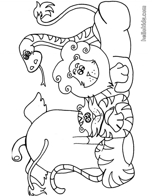 african tiger coloring pages - photo#20