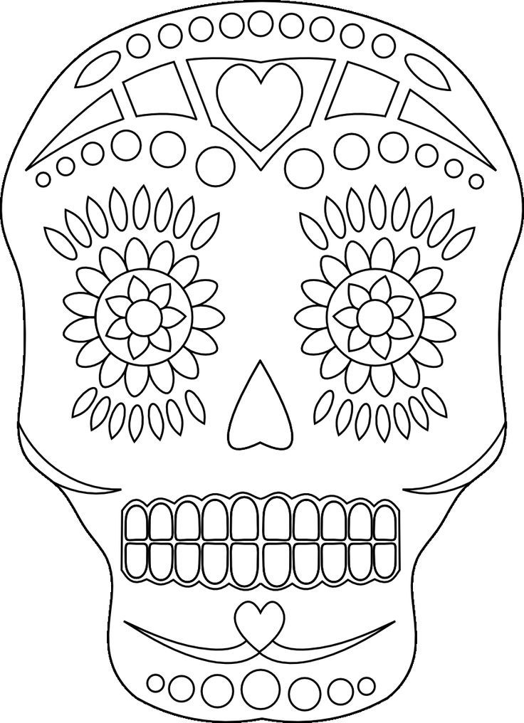 Day Of The Dead Skull Coloring Pages Coloring Home Day Of The Dead Skull Coloring Pages
