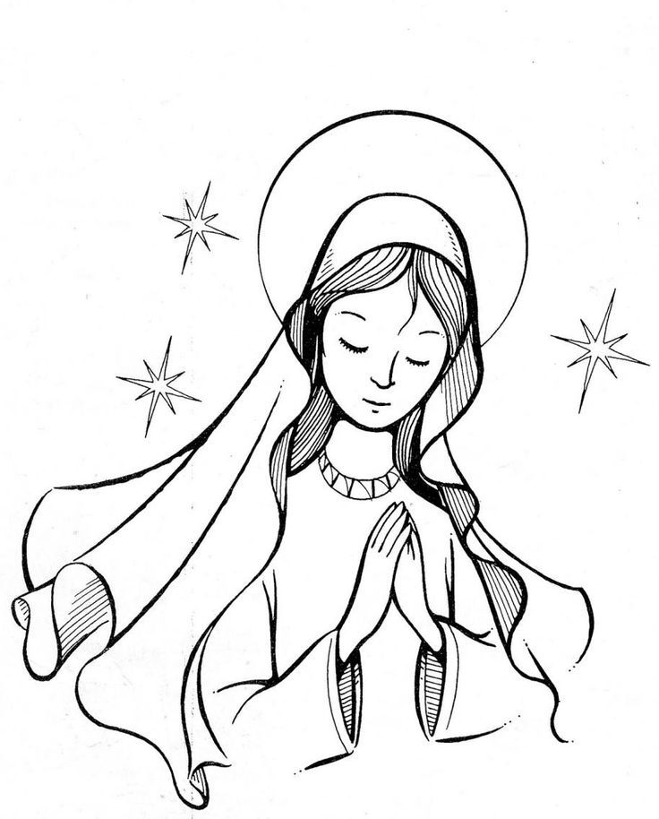 catholic kids coloring pages mary - photo#2
