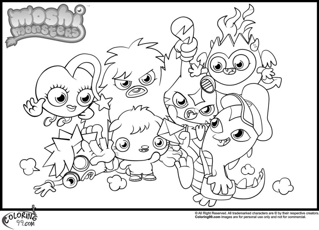 moshi monsters coloring pages free coloring pages for kidsfree