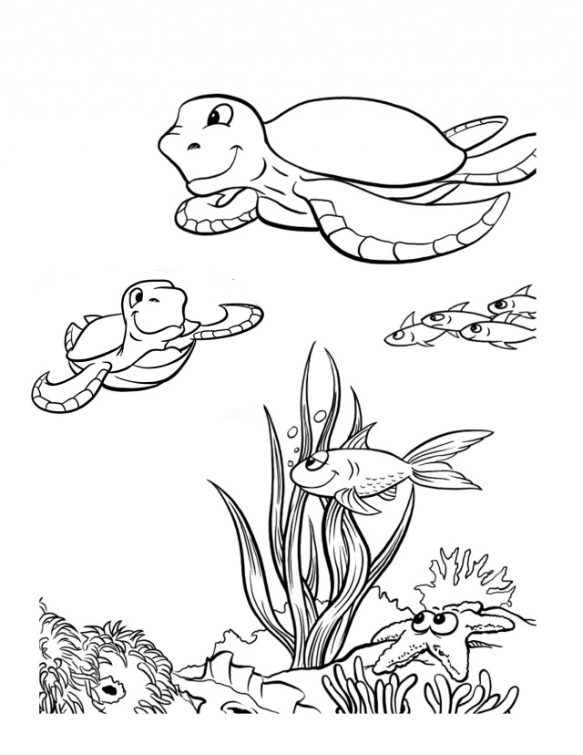 Coloring pages ocean life az coloring pages for Coloring pages ocean creatures