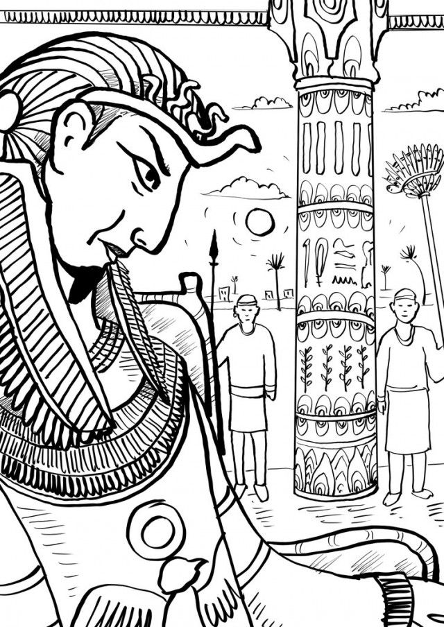 Pharaoh Coloring Pages Pharaoh Coloring Pages Pharaoh And The