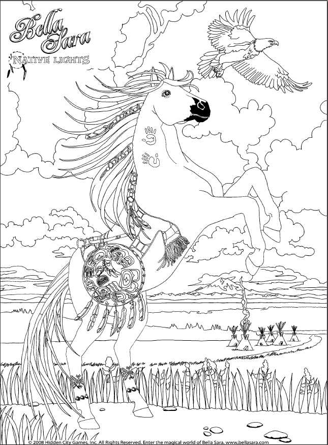 Bella Sara Coloring Pages Coloring Home