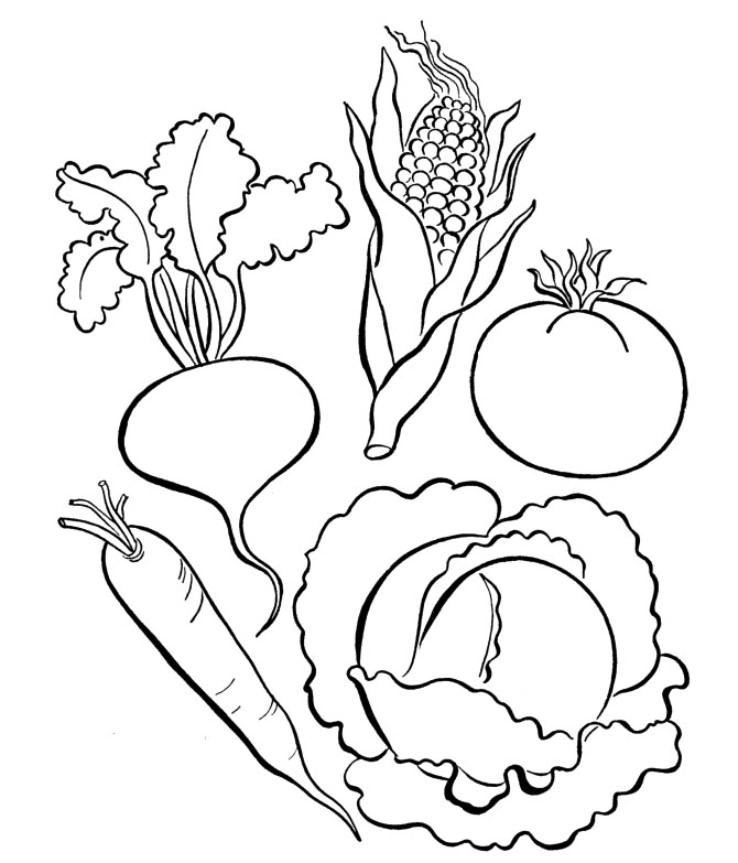 free coloring pages for vegetables - photo#14