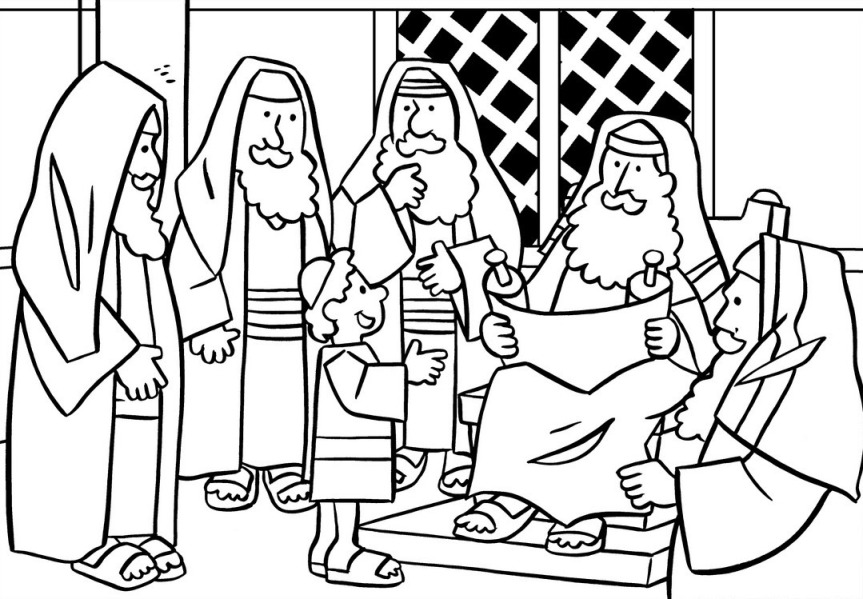 Jesus Clears The Temple Coloring Page Az Coloring Pages Boy Jesus In The Temple Coloring Page Free