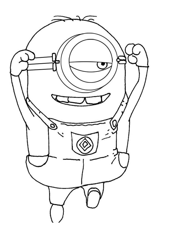 despicable me two coloring pages - photo#25