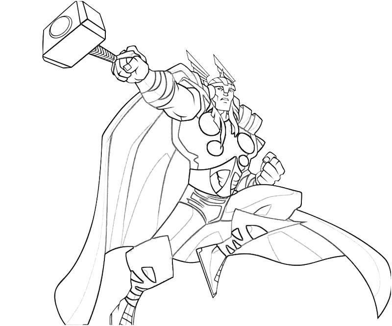 20 Free Printable Thor Coloring Pages: Marvel Characters Coloring Pages