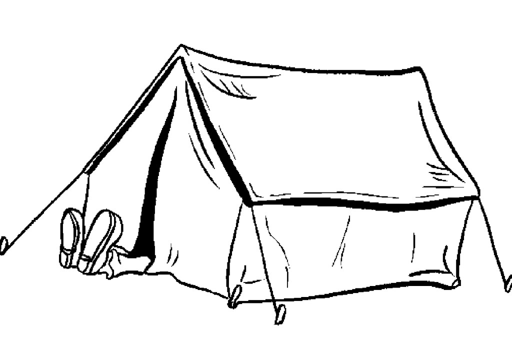 camping coloring pages for preschoolers az coloring pages. Black Bedroom Furniture Sets. Home Design Ideas