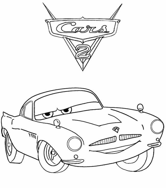 Download Finn Coloring Pages For Kids Cars 2 Or Print