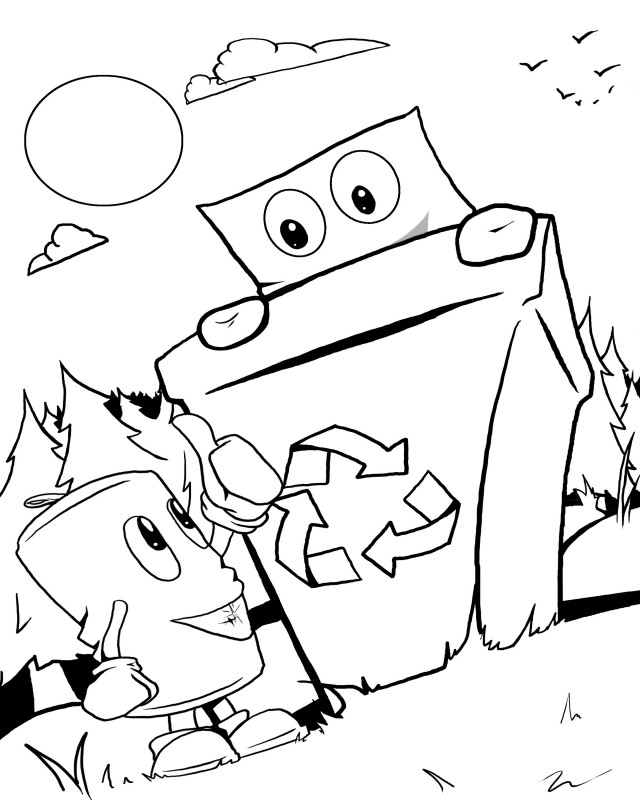 Recycling coloring pages printable sketch coloring page for Recycling coloring pages