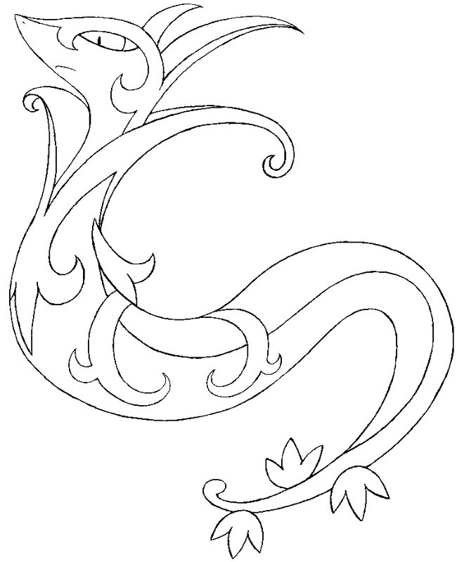 pokemon coloring pages servine pictures - photo#8