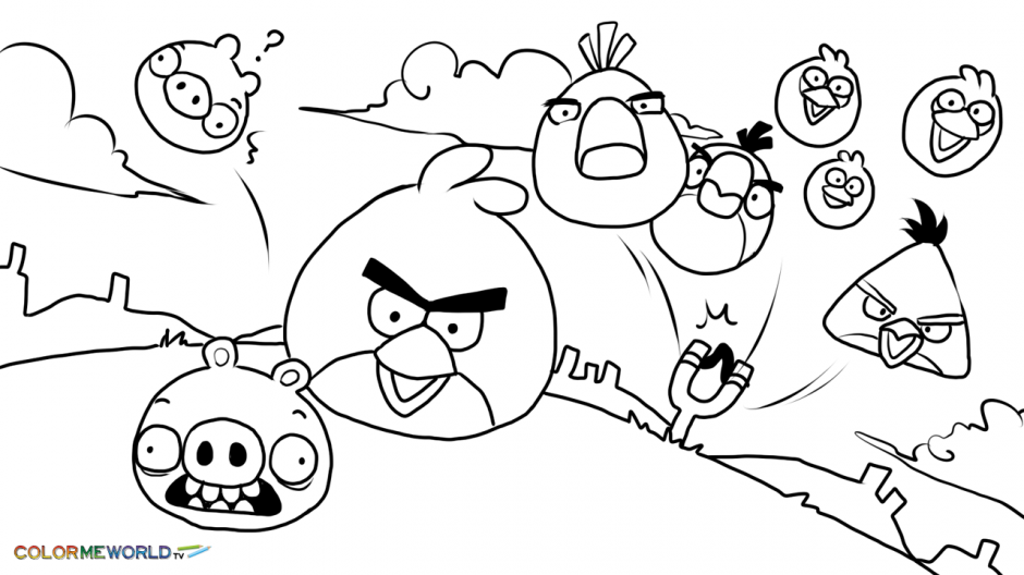 Angry Birds Season Coloring Pages 2 Angry Birds Seasons Coloring