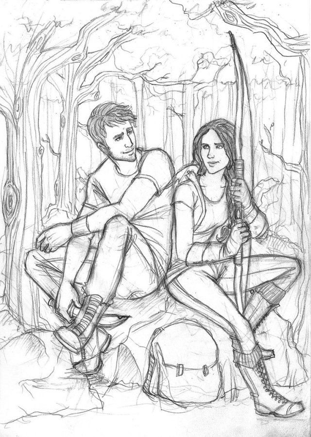 Hunger Games Character Coloring Pages The Hunger Games