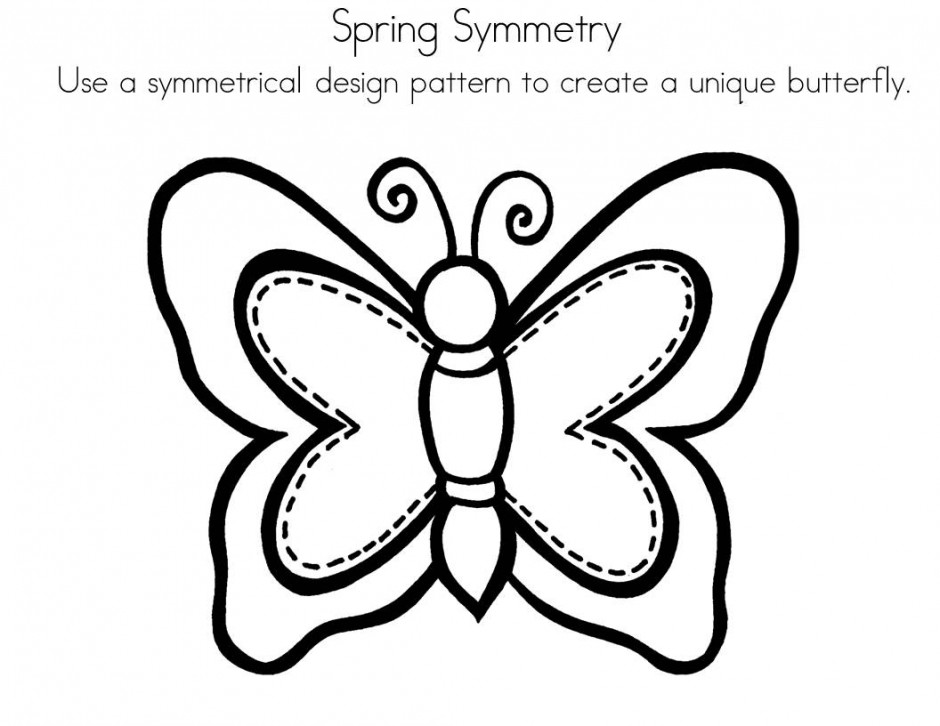 Symmetry Coloring Page Butterfly Id 33105 Uncategorized Yoand