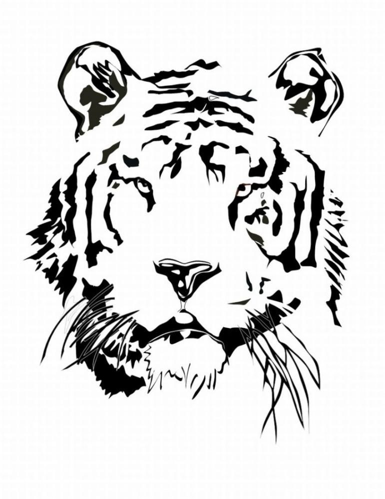 Cute Tiger Coloring Pages - Coloring Home
