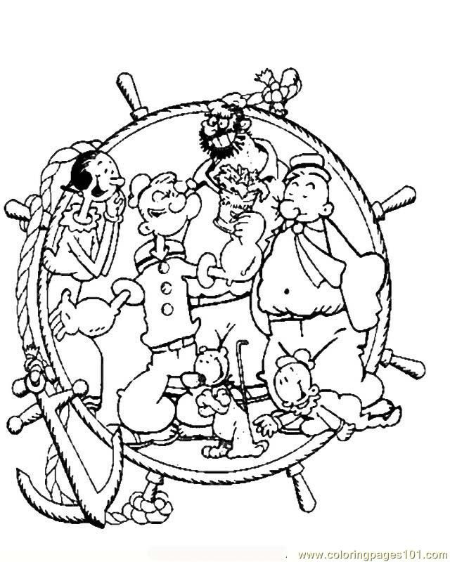 Coloring Pages Popeye06 (Cartoons > Popeye) - free printable