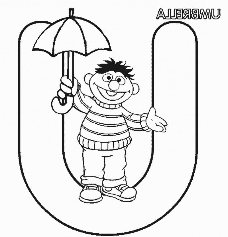 U Is For Umbrella Coloring Page Letter U Is For Umbrel...