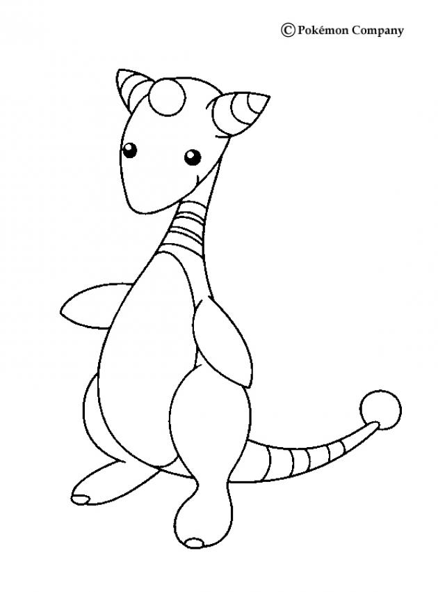 Electric Pokemon Coloring Pages Ampharos Wings Coloring Home