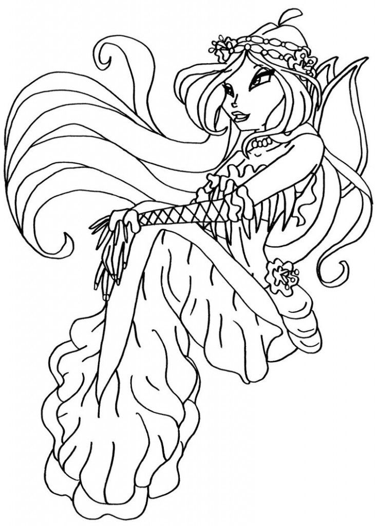 Winx Coloring Pages Pdf : Winx club as pixies colouring pages az coloring