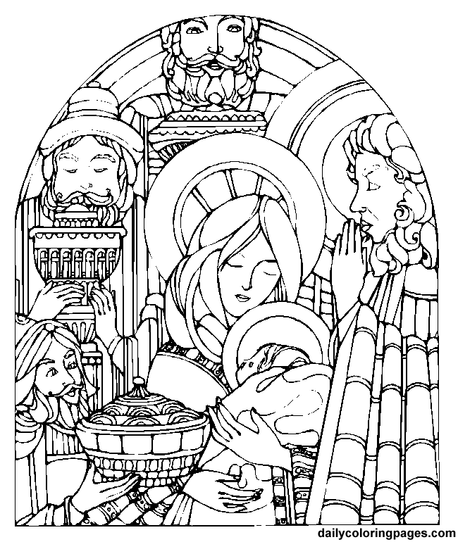 Jesus Christmas Coloring Pages - Free Printable Coloring Pages
