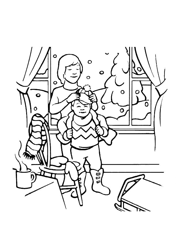 Winter Coloring Pages For Kindergarten Free : Disney winter coloring pages az