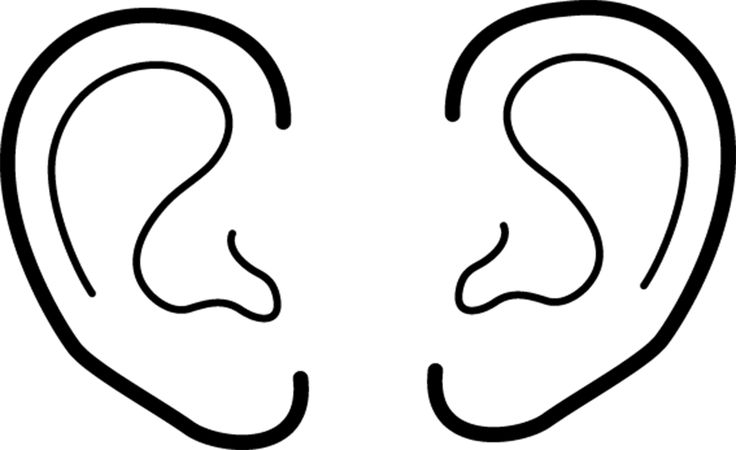 ears coloring page