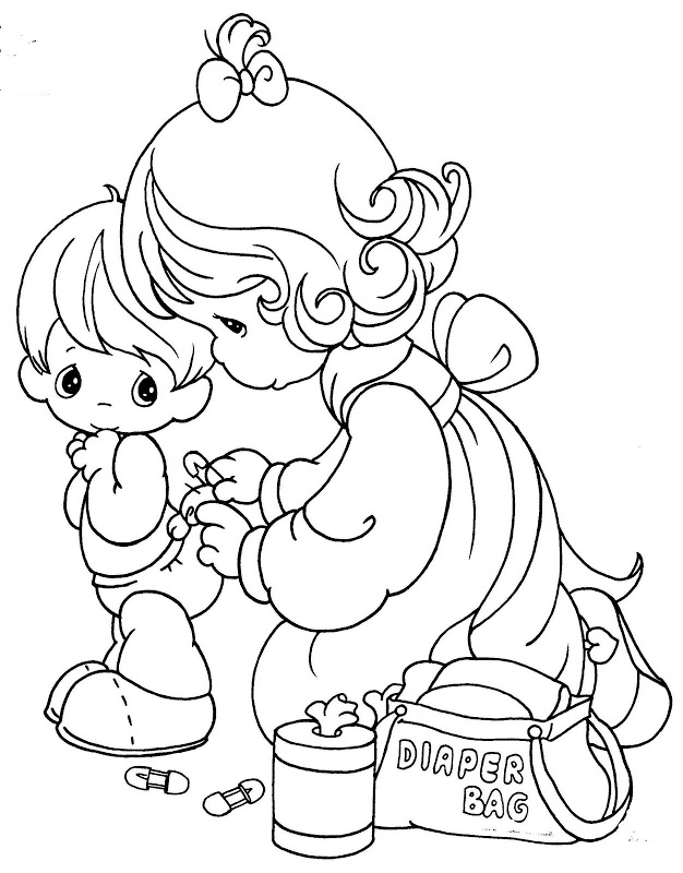Precious moments angels pictures az coloring pages for Precious moments angel coloring pages