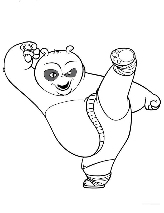 Kung Fu Panda Pictures Coloring Home