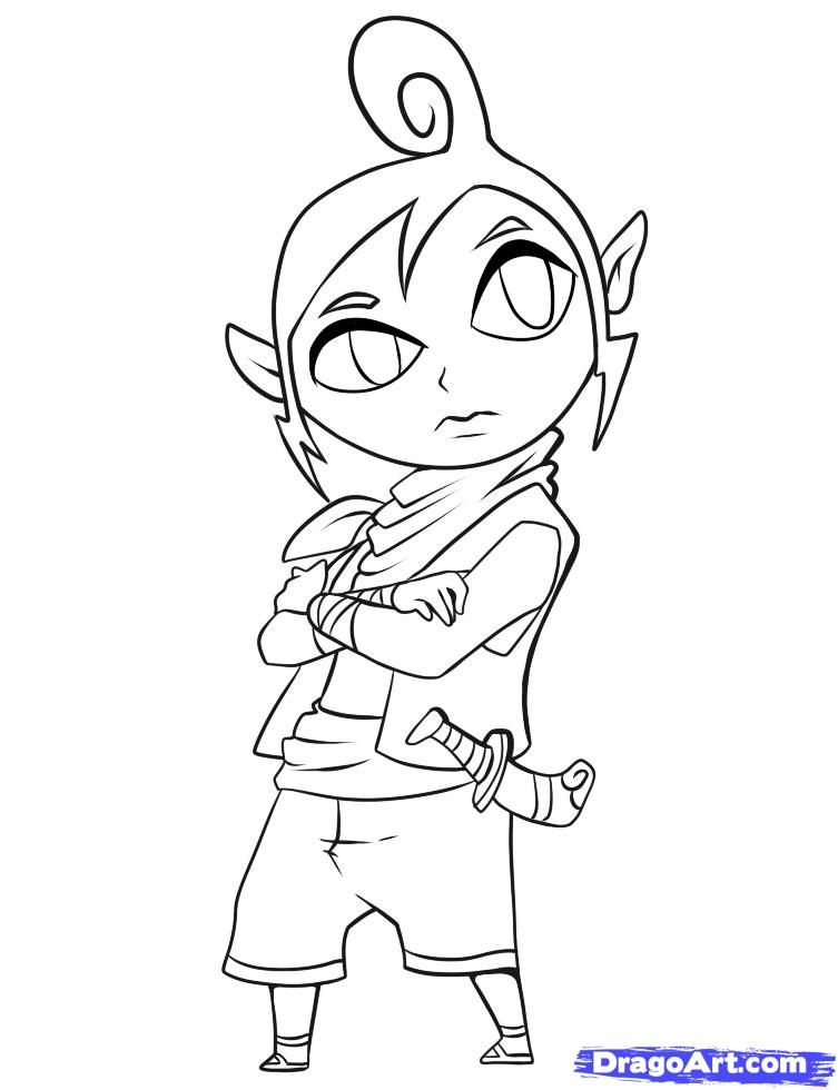How to Draw Tetra, Step by Step, Video Game Characters, Pop